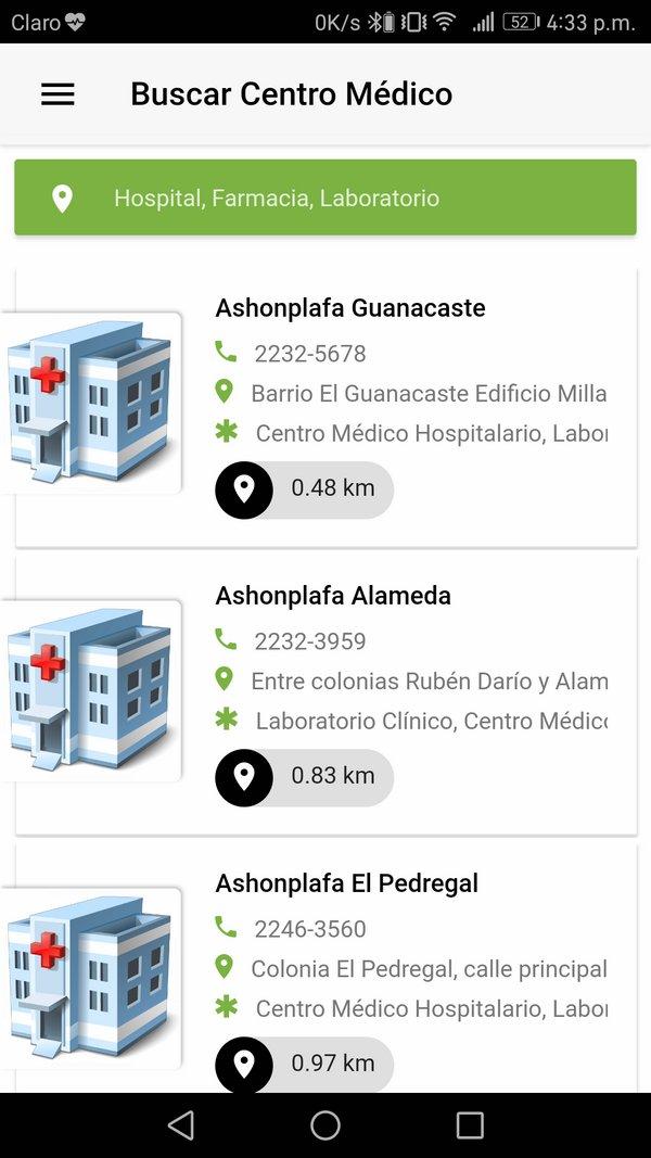 Buscar centro médico